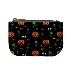 Pumpkins   Halloween Pattern Mini Coin Purses by Valentinaart
