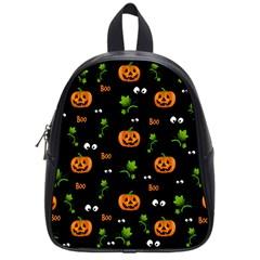 Pumpkins   Halloween Pattern School Bag (small) by Valentinaart