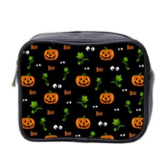 Pumpkins   Halloween Pattern Mini Toiletries Bag 2 Side by Valentinaart