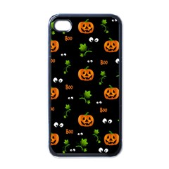 Pumpkins   Halloween Pattern Apple Iphone 4 Case (black) by Valentinaart