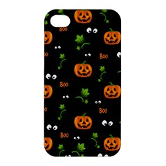 Pumpkins   Halloween Pattern Apple Iphone 4/4s Hardshell Case by Valentinaart