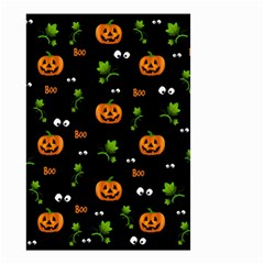 Pumpkins   Halloween Pattern Small Garden Flag (two Sides) by Valentinaart