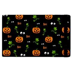 Pumpkins   Halloween Pattern Apple Ipad 2 Flip Case by Valentinaart