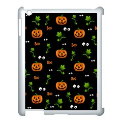 Pumpkins   Halloween Pattern Apple Ipad 3/4 Case (white) by Valentinaart