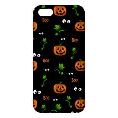 Pumpkins   Halloween Pattern Apple Iphone 5 Premium Hardshell Case by Valentinaart