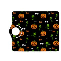 Pumpkins   Halloween Pattern Kindle Fire Hdx 8 9  Flip 360 Case by Valentinaart