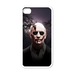 Zombie Apple Iphone 4 Case (white) by Valentinaart