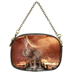 Cute Baby Elephant On A Jetty Chain Purses (one Side)  by FantasyWorld7