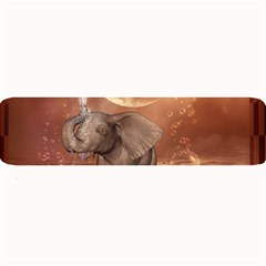 Cute Baby Elephant On A Jetty Large Bar Mats by FantasyWorld7