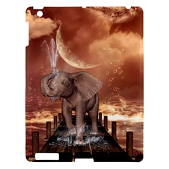 Cute Baby Elephant On A Jetty Apple Ipad 3/4 Hardshell Case by FantasyWorld7
