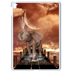 Cute Baby Elephant On A Jetty Apple Ipad Pro 9 7   White Seamless Case by FantasyWorld7