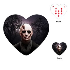 Zombie Playing Cards (heart)  by Valentinaart