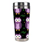 Halloween purple owls pattern Stainless Steel Travel Tumblers