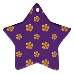 Ditsy Floral Pattern Design Ornament (star) by dflcprints