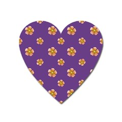 Ditsy Floral Pattern Design Heart Magnet by dflcprints
