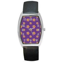 Ditsy Floral Pattern Design Barrel Style Metal Watch by dflcprints