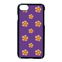 Ditsy Floral Pattern Design Apple Iphone 7 Seamless Case (black) by dflcprints