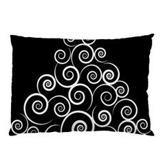 Abstract Spiral Christmas Tree Pillow Case by Mariart
