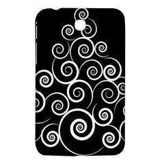 Abstract Spiral Christmas Tree Samsung Galaxy Tab 3 (7 ) P3200 Hardshell Case  by Mariart