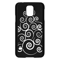 Abstract Spiral Christmas Tree Samsung Galaxy S5 Case (black) by Mariart