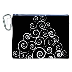 Abstract Spiral Christmas Tree Canvas Cosmetic Bag (xxl) by Mariart