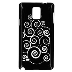 Abstract Spiral Christmas Tree Samsung Galaxy Note 4 Case (black) by Mariart