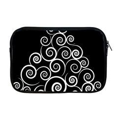 Abstract Spiral Christmas Tree Apple Macbook Pro 17  Zipper Case by Mariart