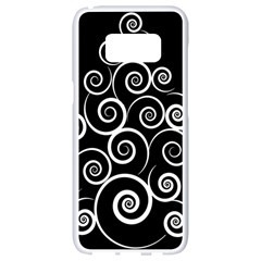 Abstract Spiral Christmas Tree Samsung Galaxy S8 White Seamless Case by Mariart