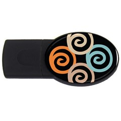 Abroad Spines Circle Usb Flash Drive Oval (4 Gb) by Mariart