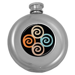 Abroad Spines Circle Round Hip Flask (5 Oz) by Mariart