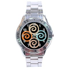 Abroad Spines Circle Stainless Steel Analogue Watch by Mariart
