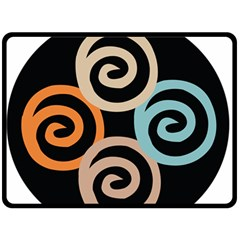 Abroad Spines Circle Double Sided Fleece Blanket (large)  by Mariart