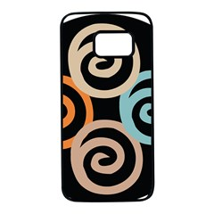 Abroad Spines Circle Samsung Galaxy S7 Black Seamless Case