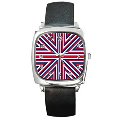 Alternatively Mega British America Square Metal Watch by Mariart