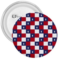American Flag Star White Red Blue 3  Buttons by Mariart