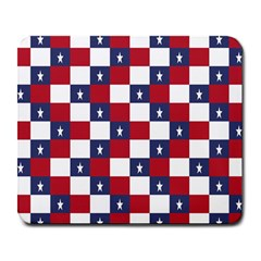 American Flag Star White Red Blue Large Mousepads by Mariart