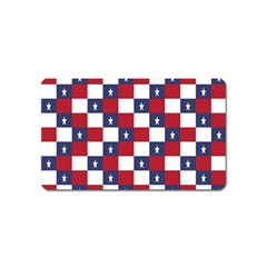 American Flag Star White Red Blue Magnet (name Card) by Mariart