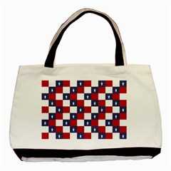 American Flag Star White Red Blue Basic Tote Bag by Mariart
