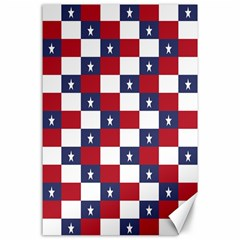 American Flag Star White Red Blue Canvas 24  X 36  by Mariart