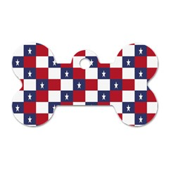 American Flag Star White Red Blue Dog Tag Bone (one Side) by Mariart
