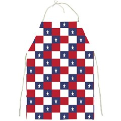 American Flag Star White Red Blue Full Print Aprons by Mariart