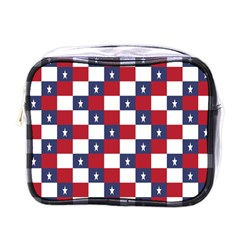 American Flag Star White Red Blue Mini Toiletries Bags by Mariart