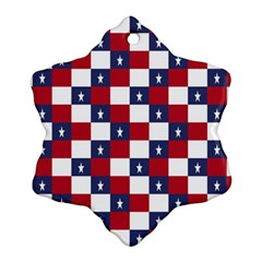 American Flag Star White Red Blue Ornament (snowflake) by Mariart