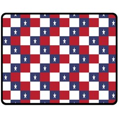 American Flag Star White Red Blue Double Sided Fleece Blanket (medium)  by Mariart