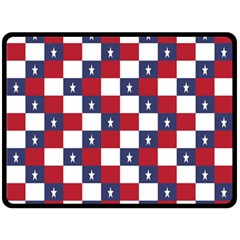 American Flag Star White Red Blue Double Sided Fleece Blanket (large)  by Mariart