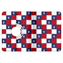 American Flag Star White Red Blue Kindle Fire Hdx Flip 360 Case by Mariart