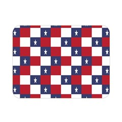 American Flag Star White Red Blue Double Sided Flano Blanket (mini)  by Mariart