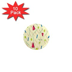 Background  With Lines Triangles 1  Mini Magnet (10 Pack)  by Mariart