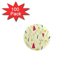 Background  With Lines Triangles 1  Mini Magnets (100 Pack)  by Mariart