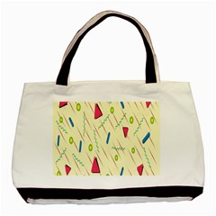 Background  With Lines Triangles Basic Tote Bag by Mariart